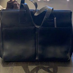 Black Leather Bally Bag